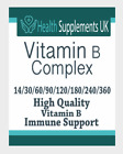 Vitamin B Complex Tablets - 100% NRV with all 8 B-Vitamins B12 - Vegan Friendly