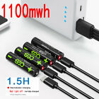CES AAA 1100mwh 1.5V usb battery lithiu li-po rechargeable battery