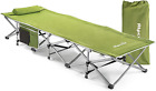 Camping Cot Heavy Duty Folding Collapsing Bed, Portable, Camping, Up to 440 Lbs