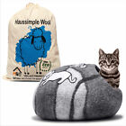 Cat Cave Bed Natural Sheep Wool Large for Pets Kitten Small Dogs Puppy House