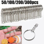 Keyring Blanks Split Key Rings 55mm Strong Loop High Quality - Pack of 50-300pcs