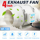 4/6'' Inline Duct Fan Hydroponic Extractor Fan Vent Exhaust Air Blower Low