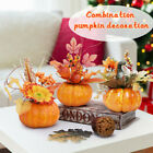 Maple Leaves Faux Pumpkins Artificial for Garland Halloween Thanksgiving Decor F