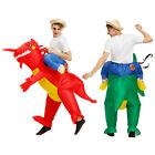 Adult Kids Inflatable Dinosaur Riding Costume Halloween Party Dress Cosplay Prop