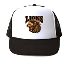 Trucker Hat Cap Foam Mesh School Team Mascot Lions
