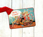 Hang Tags RETRO MERRY CATMAS KITTY CAT CHRISTMAS TAGS or MAGNET 506 Gift Tags