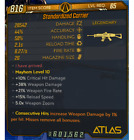 MODDED GEAR - GUNS AND GRENADES level 65 mayhem 10 - PACK X5 - PS4 PS5 PC