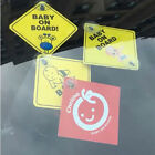 Baby On Board SAFETY Car Window Suction Cup Yellow REFLECTIVE WarningSign12CJ ss