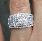 Deal! 1.60CT Genuine Cluster Diamond Engagement Bridal Ring with Band 14K Gold