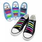 Adult 16pcs Easy No Tie Shoelaces Elastic Silicone Flat Lazy Shoe Lace Strings
