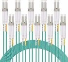LC Fiber Patch Cable OM3 50/125 LSZH Fiber Optic Cord, 1~10 meters, 10-pack