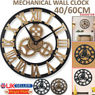 40/60CM LARGE SKELETON WALL CLOCK ROMAN NUMERAL BIG GIANT OPEN FACE METAL ROUND