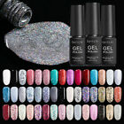 LILYCUTE 7ml Glitter Gel Polish Pink Nail Art Sequins Soak Off UV Gel 73 Colors