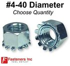 #4-40 K Lock Hex Star Lock Nuts Keps Zinc Plated COARSE Thread (Pick Quantity)