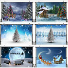Christmas Tree Snow Scene Background Party Holiday Photography Background Props