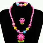 Toddler Baby Girl Sparkely  Crystal Beads Necklace Kid's Princess Jewelry Uk