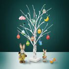 Wholesale White Easter Birch Tree LED Light Up Christmas Twig Tree Hanging Eggs