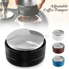 58mm Espresso Coffee Powder Tamper Stainless Steel Base Adjustable Distributor