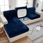 Replacement Velvet Sofa Seat Cushion Cover Couch Slip Covers Stretchy Protector