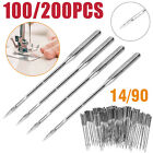 100pcs Threading Singer Sewing Machine Needles For Household Domestic Home 14/90