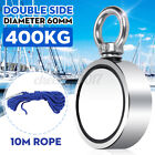 600KG Double Sided Pull Salvage Magnet Fishing Treasure Neodymium +10M Rope