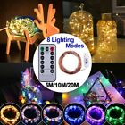 USB Plug In LED DIY Micro Copper Wire String Lights Party Static Fairy Light US