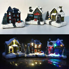 LED Christmas House Village Scene Light Up Decoration Battery Indoor Ornament