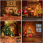 Photo Backdrops Merry Christmas Fireplace Tree Gift Photography Background Props