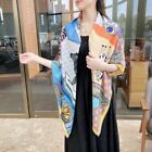 """New 70 Cashmere 30 Silk Wrap Scarf Circus Printed Double Face Kerchief 53"""""""