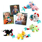 Silicone Baby Pacifier Clip Feeding Plush Animal Toy Soother