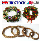 DIY Xmas Wreath Rattan Wicker Wedding Decor Garland Vine Ring Artificial