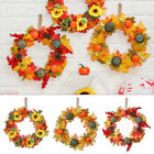 Festival Thanksgiving Decoration Halloween Wreath Door Hanging Pumpkin Wreath