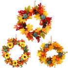 Ornament Door Hanging Halloween Wreath Pumpkin Wreath Thanksgiving Decoration