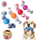 TOUGH DOG PUPPY PET TOY ROPE BUNDLE TEETH CHEW KNOT BALL COTTON ROPE TOYS KIT