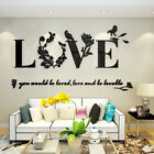 New Fashion 3d Love Wall Sticker Art Vinyl Decals Bedroom Removable Home Decor