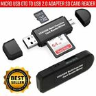 Micro USB OTG SD/TF Card Reader USB 2.0 Adapter For Android Phone Tablet PC Mac
