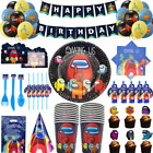 Among Us Game Birthday Cheap Party Supply Kids Balloons Plate Tablecloth Amongus