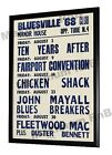 John Mayalls Bluesbreakers Concert Poster Bluesville Club Manor House London