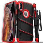 iPhone XR Zizo BOLT Case Cover Holster Tempered Glass