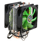 DC 12V Dual-Tower Quiet CPU Cooling Fan 4 Pin Connector Cable Wire, with 12 LED