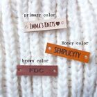 Custom Name Leather Tags personalized knit labels Brand Tag