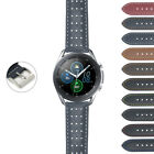 DASSARI Perforated Leather Racing Watch Band Strap for Samsung Galaxy Watch 3