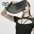 Gothic Personality Accessories Cosplay Props Punk Rivet Decoration Folding Fan