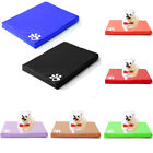 Waterproof Pet Dog Cage Crate Mat Mattress Cushion Zip PU Leather Cover Washable