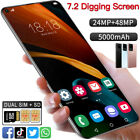 "7.2"" Big Screen Dual Sim Android Smart Phone 1+8gb Face Unlocked Mobile Phone 3g"