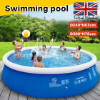 Large Family Swimming Pool Garden Outdoor Summer Inflatable Kids Pools 8/10FT UK