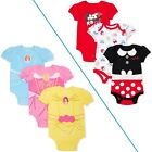DISNEY BABY Girl's size 0-3M, 3-6M, 6-9M, 18M -or- 24M BODYSUITS 3-Pack  New