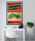 1951 TRIUMPH Motorcycle -Wrestler Racing Poster- Poster Print