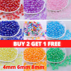 4mm 6mm 8mm Clear Ab Rainbow Round Beads Choose Colour Diy Jewellery  Uk Stock