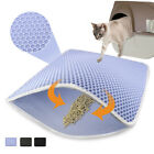 Washable Cat Litter Mat Waterproof Double Layer Trapping Mat Folding Clean Pad
